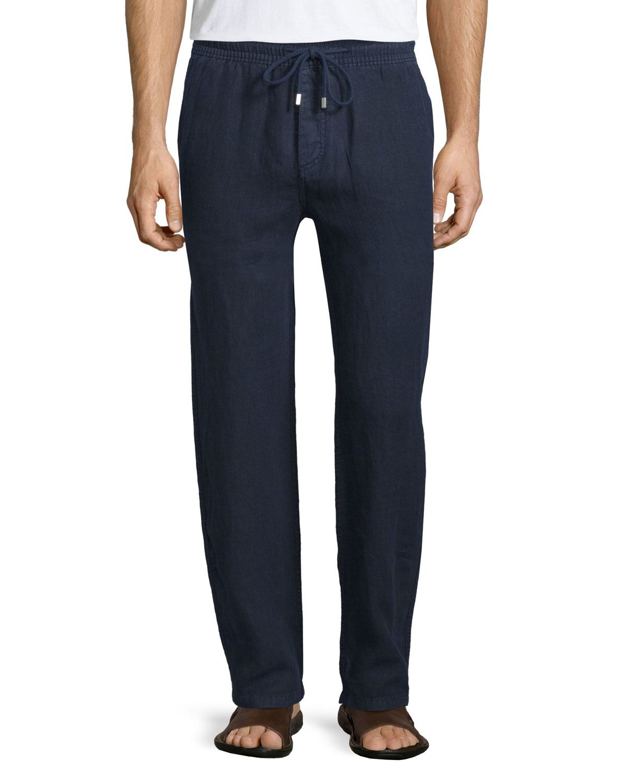 Lyst Vilebrequin Drawstring Linen Pants In Blue For Men