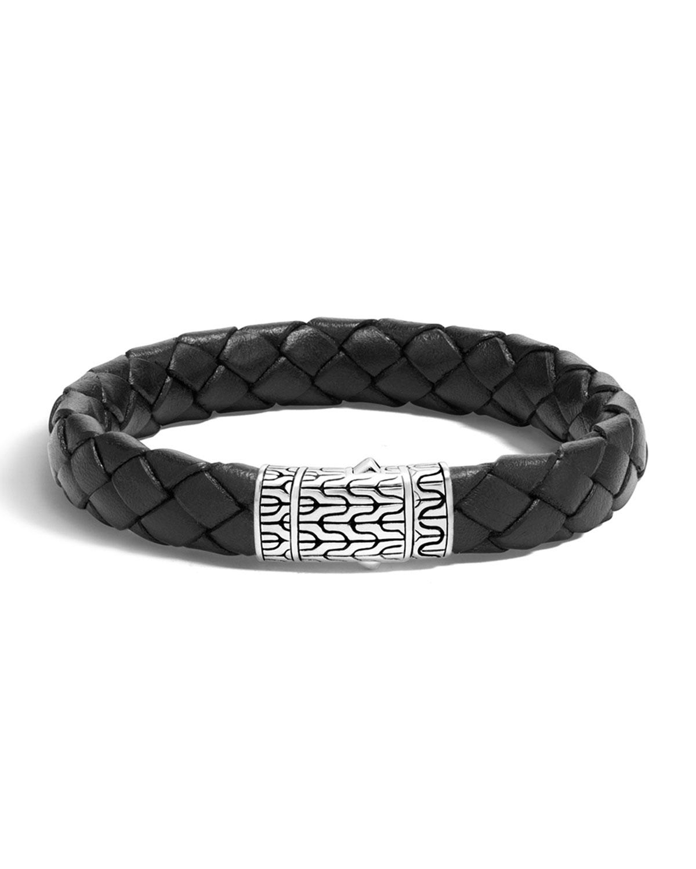 John Hardy Men S Classic Chain Braided Leather Bracelet In