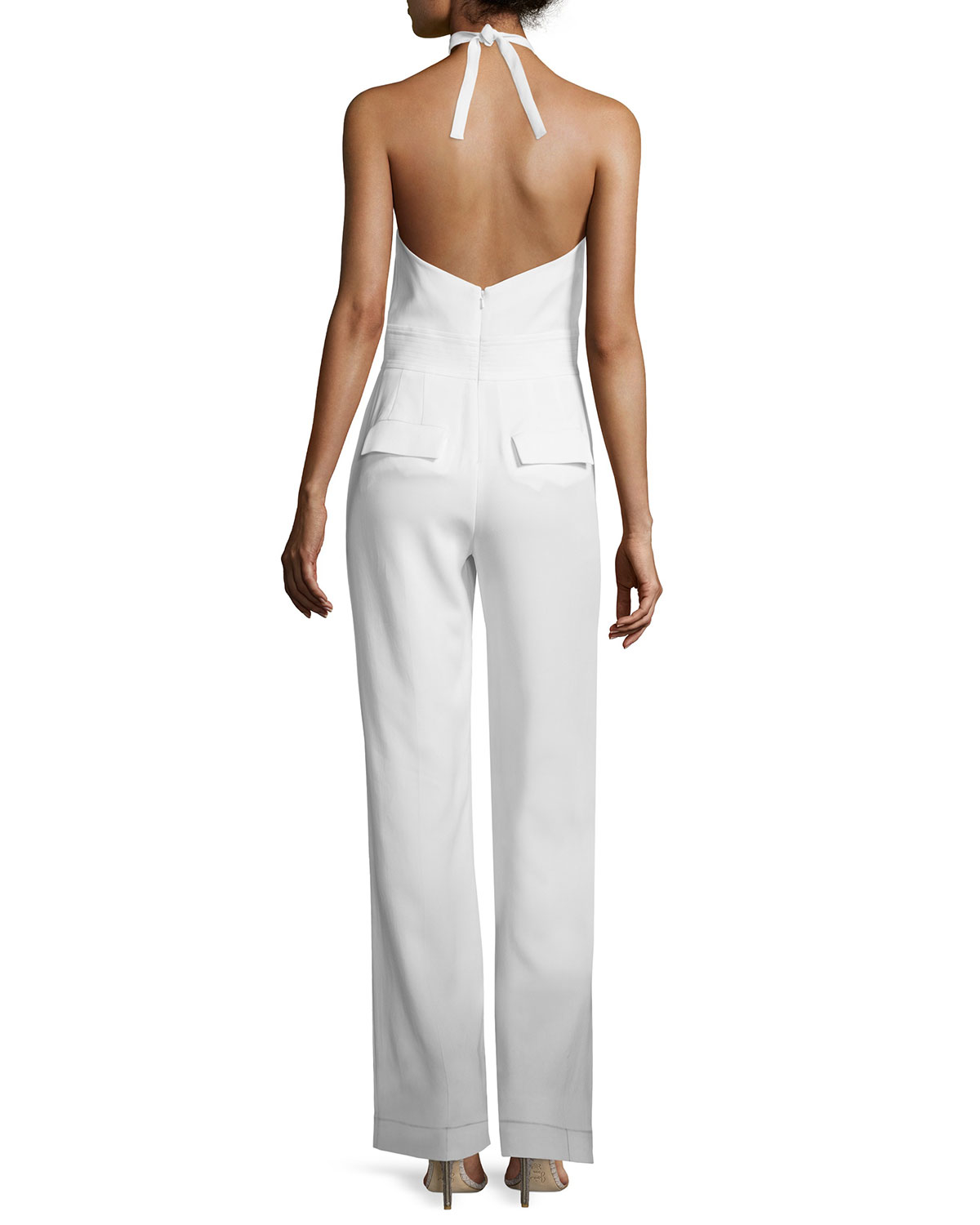 b1a46b875ffe Lyst - A.L.C. Corinna Crepe Halter Jumpsuit in White