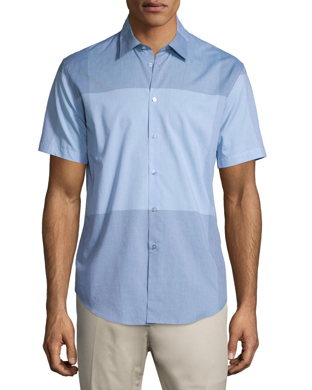 c2b86e983ad3 Burberry Alexander Check Short-sleeve Sport Shirt