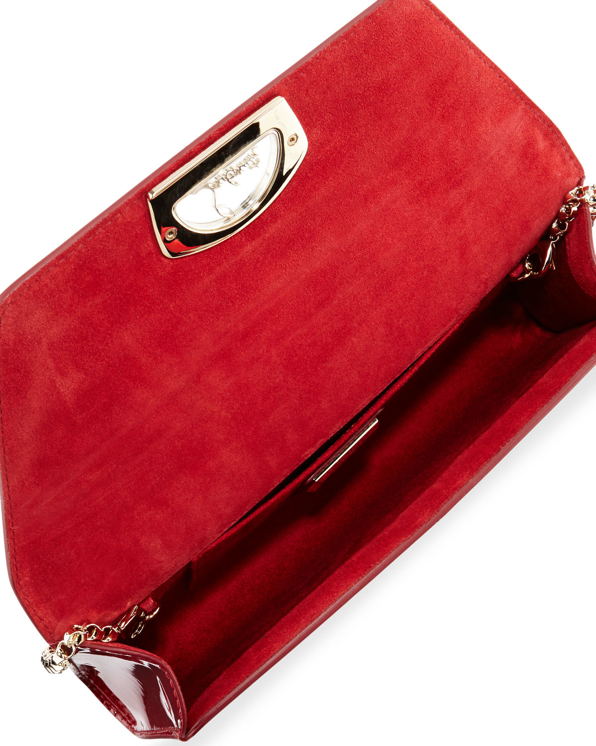 Christian louboutin Vero Flap Patent Clutch Bag in Red