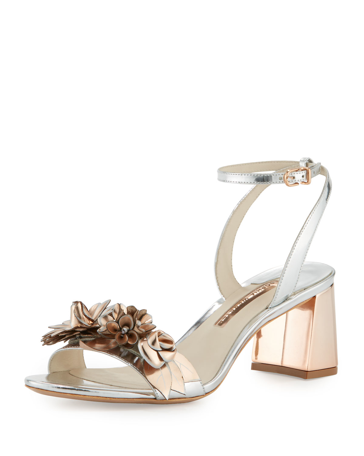 b350385b320 Lyst - Sophia Webster Lilico Patent-leather Block-heel Sandals in ...