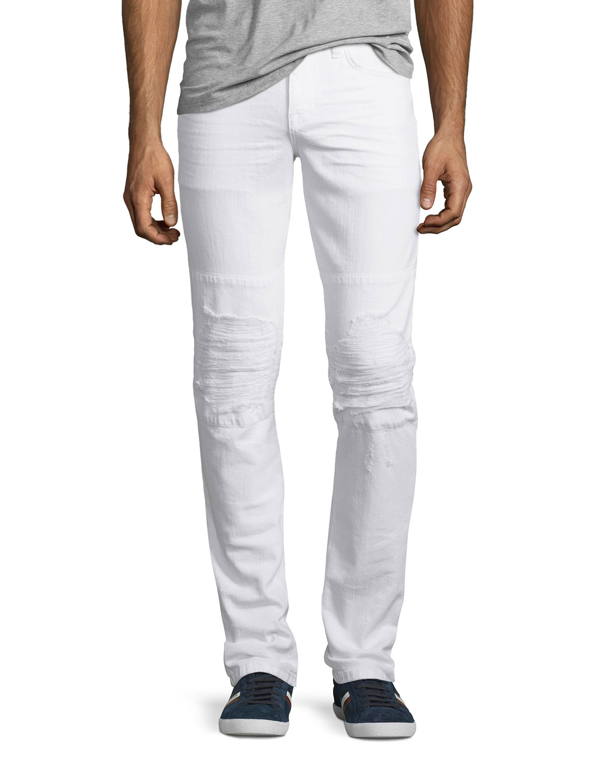 Joeu0026#39;s Jeans Slim-fit Distressed Jean In White For Men | Lyst