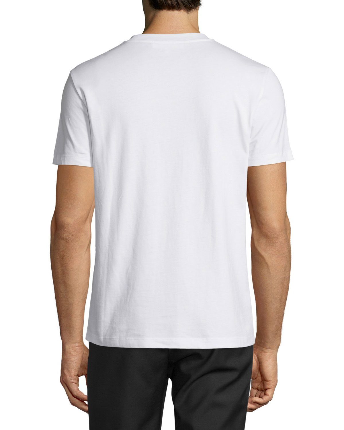 d154bad4c Lyst - McQ Triangle Logo Graphic Short-sleeve T-shirt in White for Men