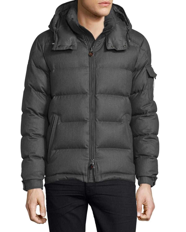 Moncler Wool Montgenevre Light Flannel Down Jacket In