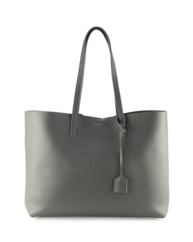saint laurent large shopping tote bag in black gray lyst. Black Bedroom Furniture Sets. Home Design Ideas