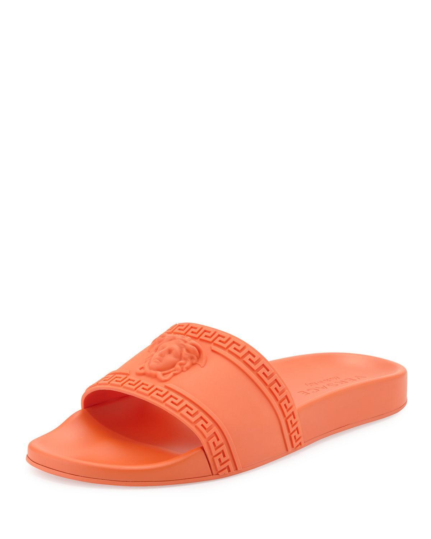 Medusa \u0026 Greek Key Shower Slide Sandal