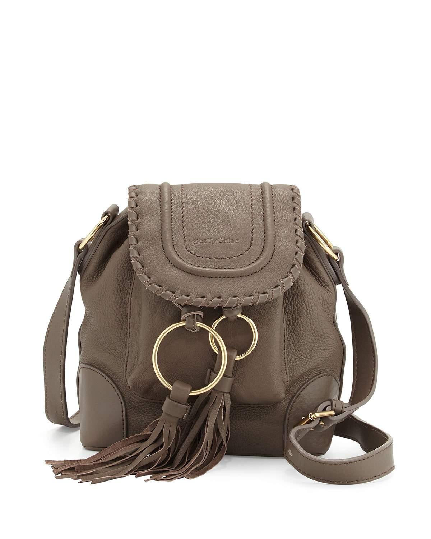 4745a0ec5b5b Lyst - See By Chloé Polly Leather Flap Bucket Bag in Black