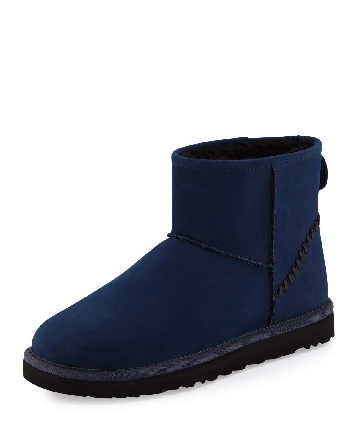 ugg men 39 s classic mini deco boot in blue for men lyst. Black Bedroom Furniture Sets. Home Design Ideas