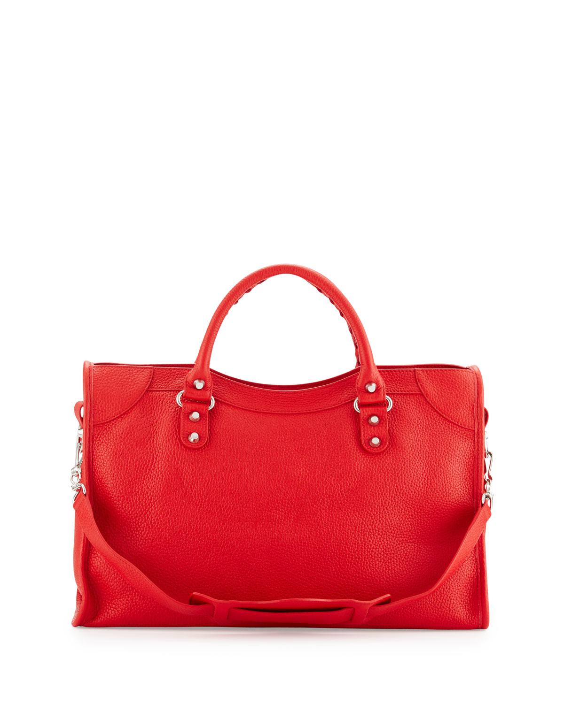 ce31b4decd Lyst - Balenciaga Classic City Calfskin Shoulder Bag in Red