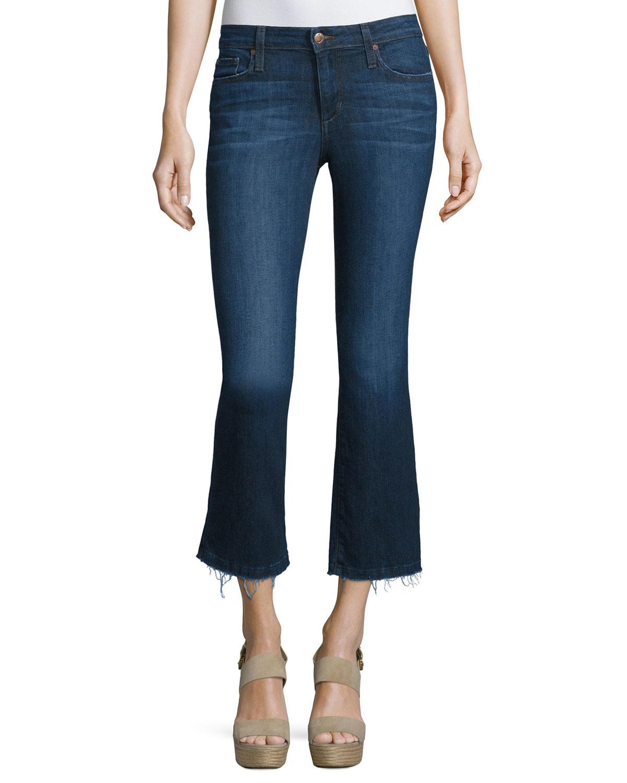 joe 39 s jeans the olivia cropped flare leg jeans in blue jerri lyst. Black Bedroom Furniture Sets. Home Design Ideas