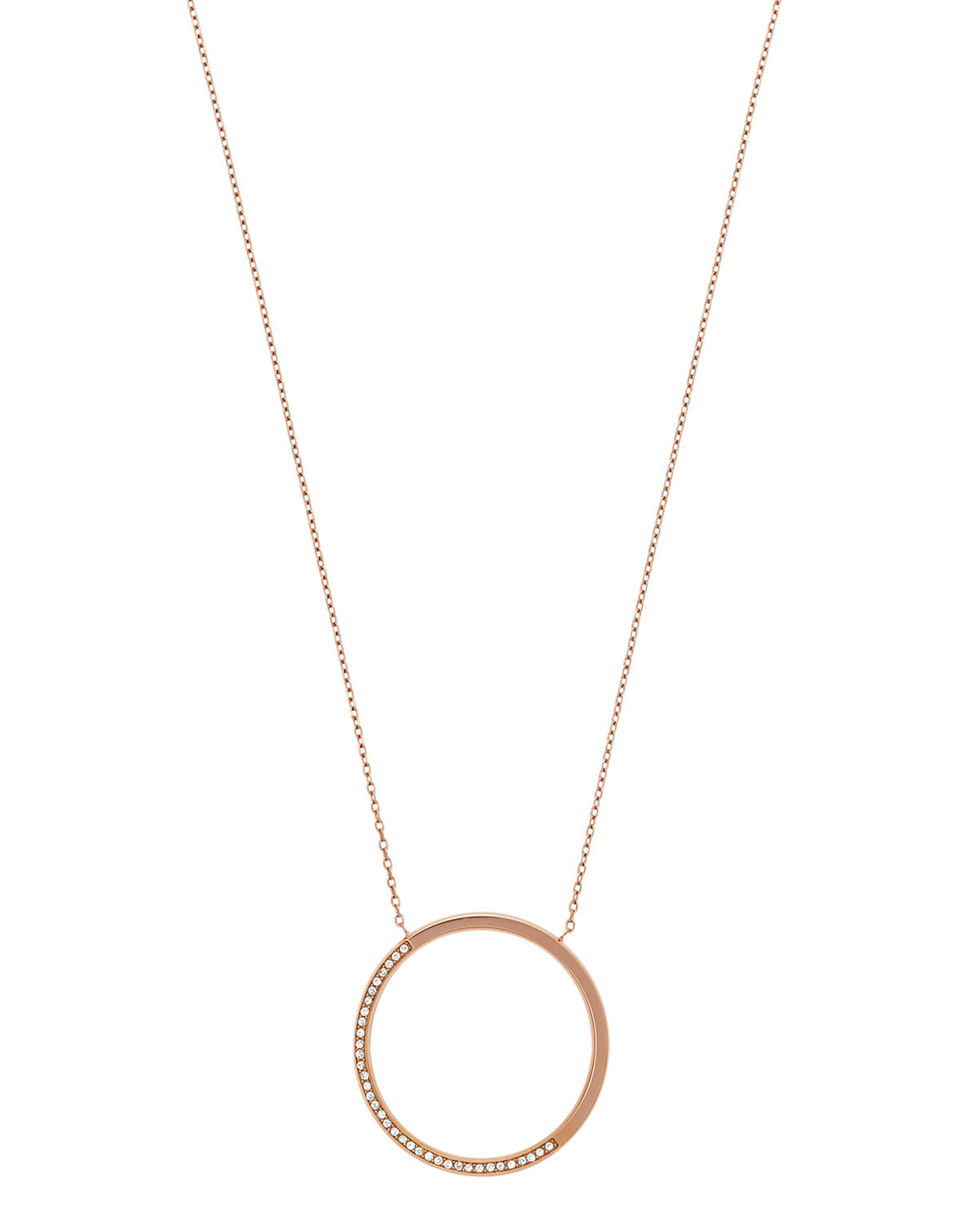 robert morris pav 233 nugget necklace necklaces michael kors open circle pav 233 pendant necklace in