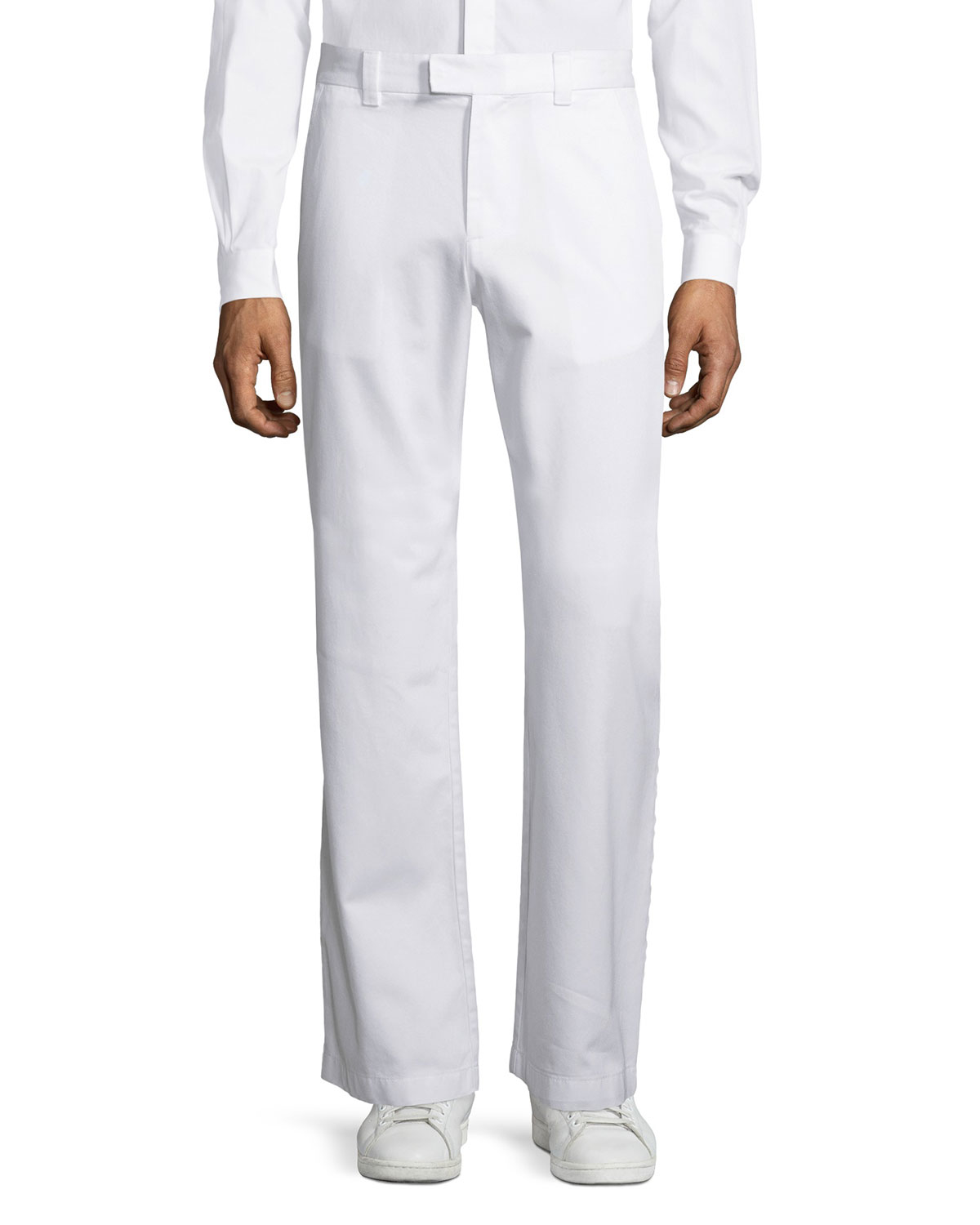 Lyst Valentino Wide Leg Pants In White For Men