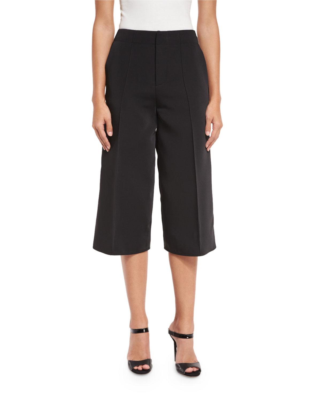 Lyst Alexis Jossie Wide Leg Cropped Pants In Black