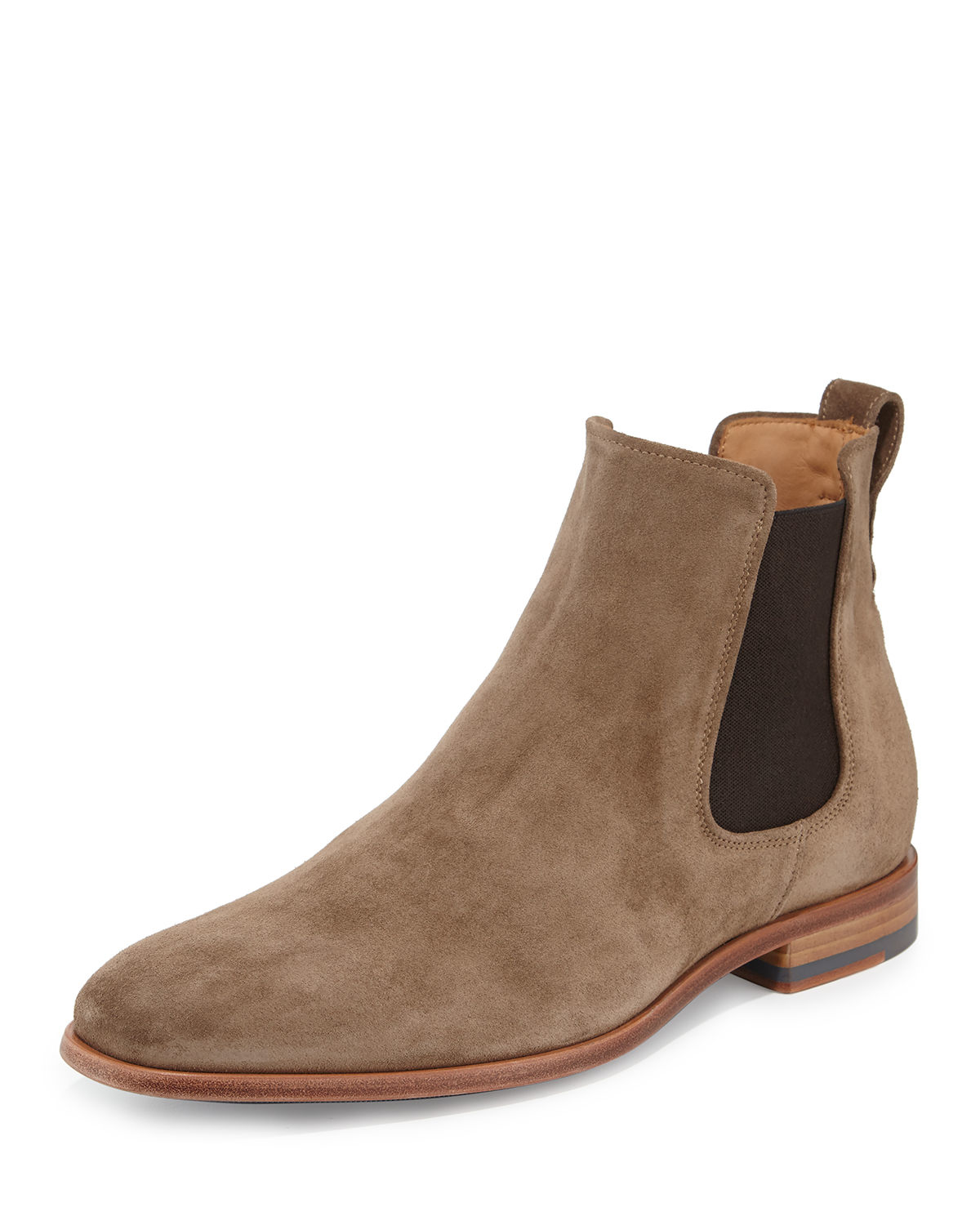 vince arthur suede chelsea boot in brown for lyst