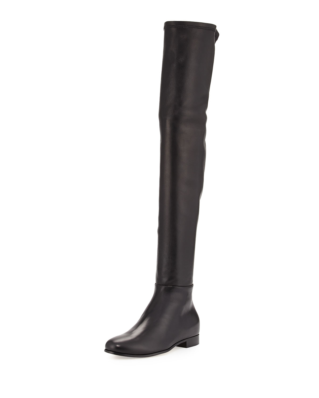 Damen Klassische Stiefel MYREN FLAT Veloursleder Metallverzierung schwarz Jimmy Choo London lkkilL
