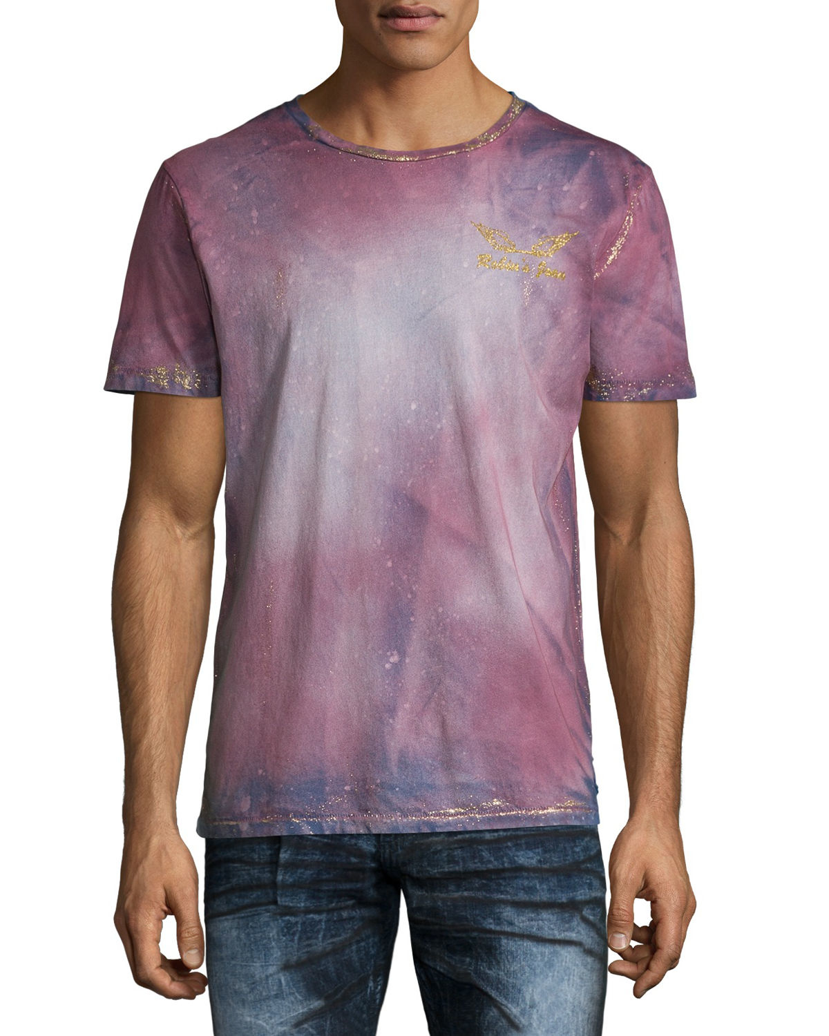 Hollister Oberbekleidung Returns Exchanges Hollister Pullover Hollister Hoodies Hollister Jeans: Robin's Jean Bleached Tie-dye Logo T-shirt In Purple For