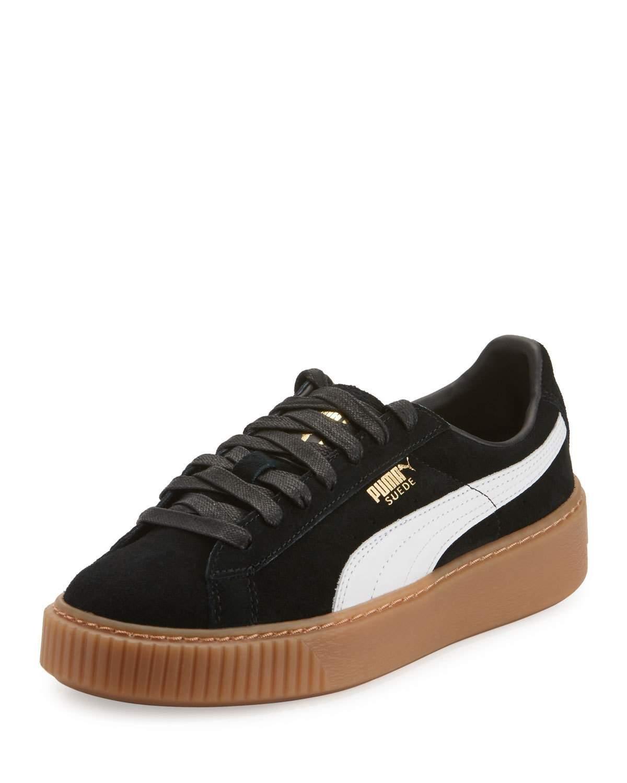 best website 5226d 6de38 Women's Black Suede Platform Sneakers