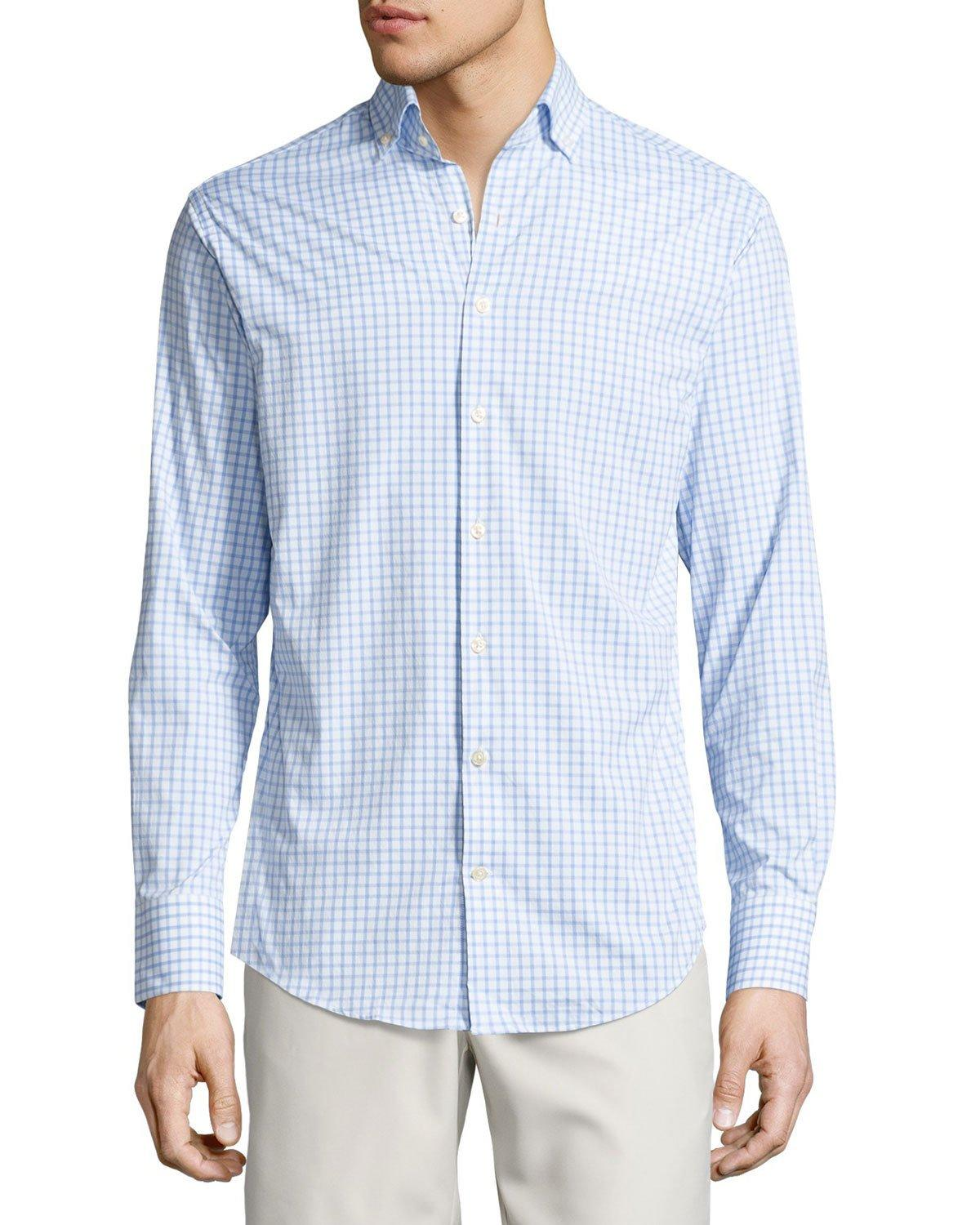 peter millar sheila performance tattersall sport shirt in