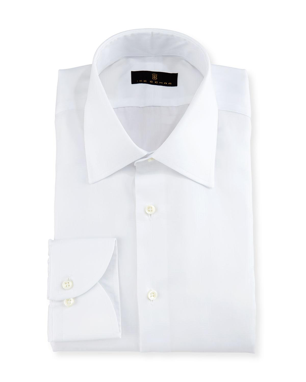 Ike behar gold label micro herringbone dress shirt in for White herringbone dress shirt