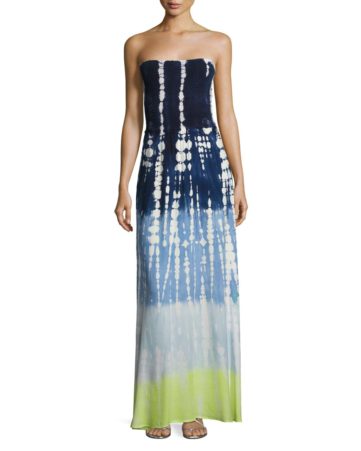 Lyst - Young Fabulous & Broke Lively Smocked Strapless ...