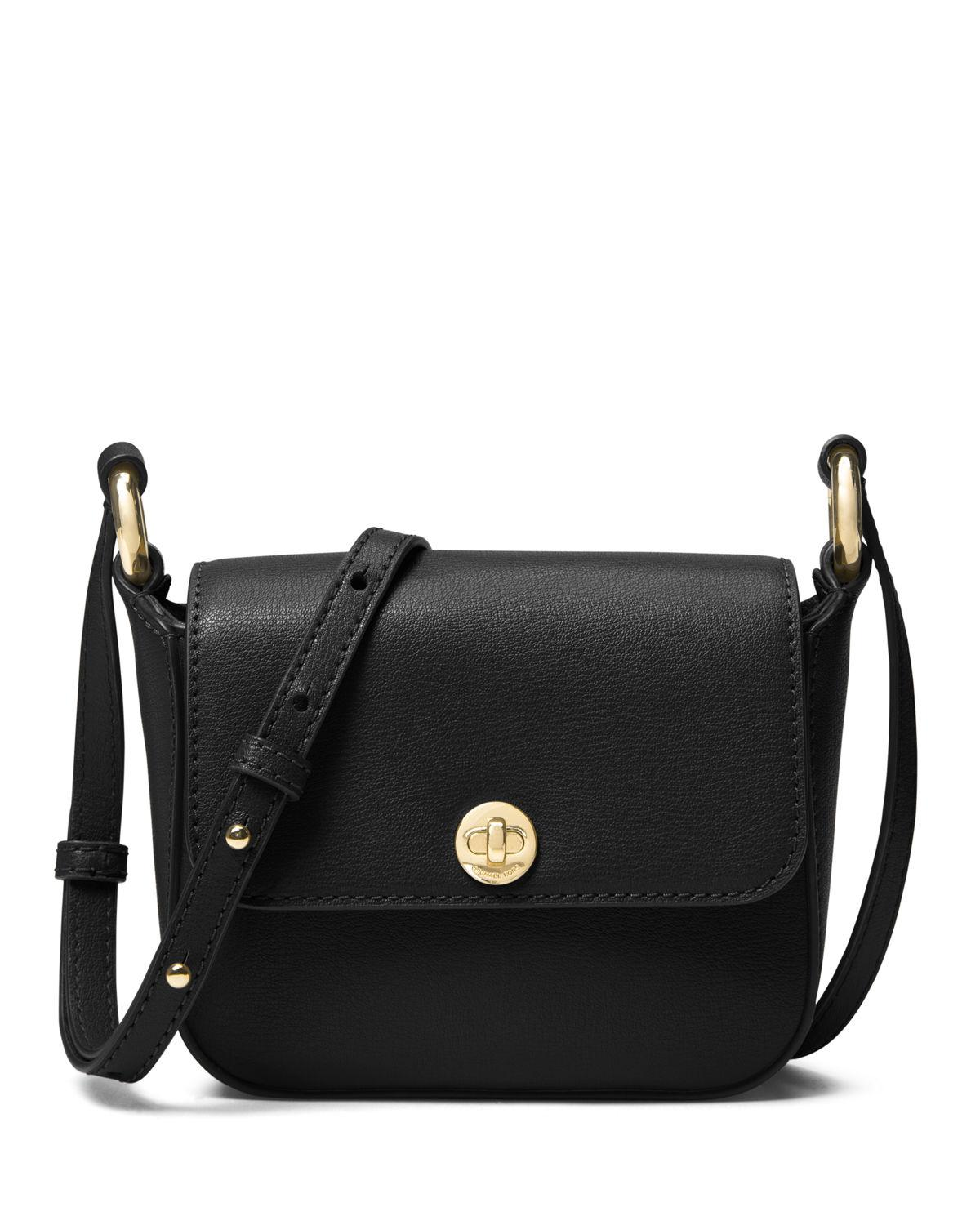 3bfaaa53d946 Lyst - MICHAEL Michael Kors Rivington Large Flap Crossbody Bag in Black