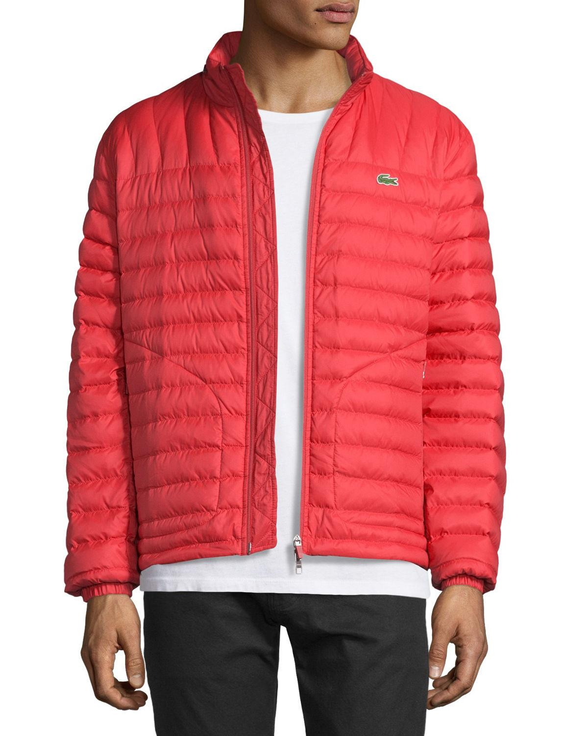 ef41b93ab6 Lacoste Red Lightweight Quilted Down Jacket for men