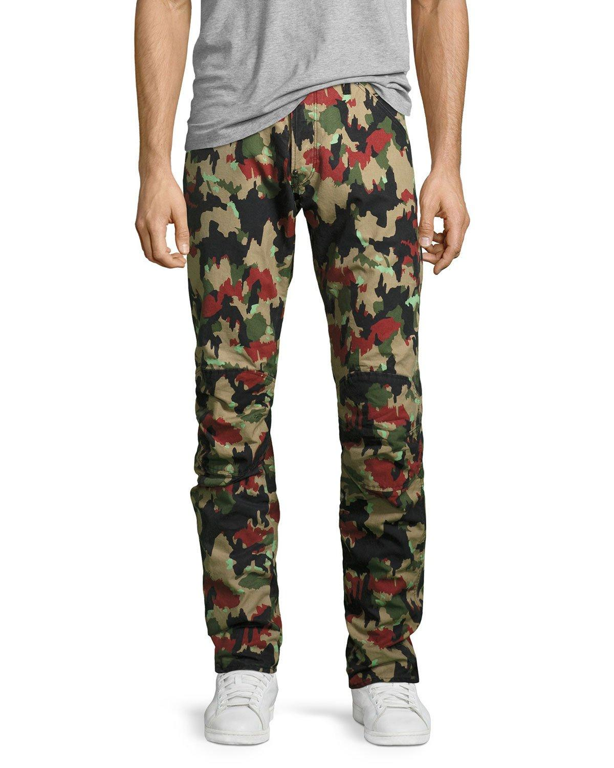 g star raw elwood x25 alpenflage camouflage 3d tapered jeans for men lyst. Black Bedroom Furniture Sets. Home Design Ideas