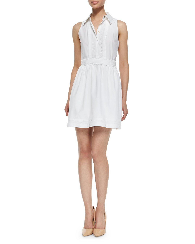 Dvf white poplin dress.