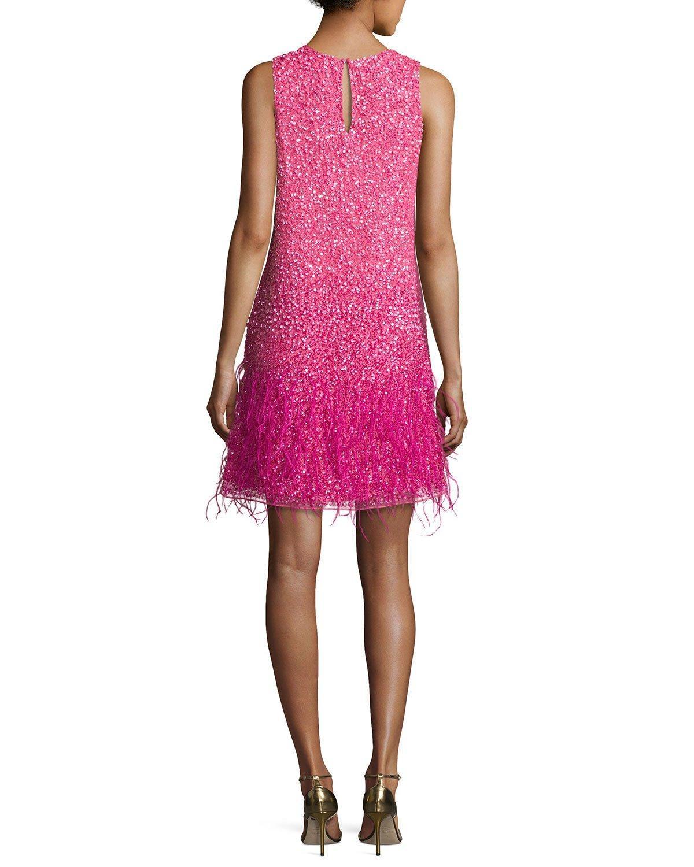 059 ASOS Magneta Deep V Peplum Dress