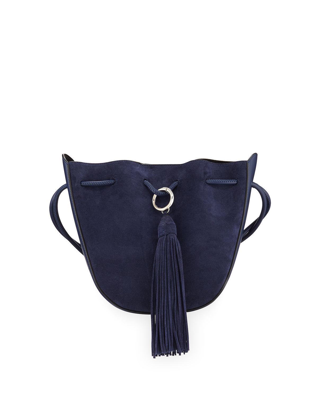 8d9e2862b Lyst - Rebecca Minkoff Lulu Suede Tassel Crossbody Bag in Blue