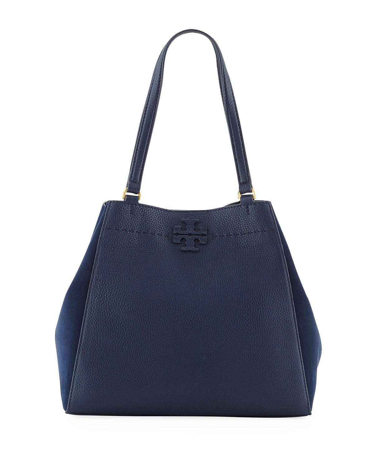 77b4751ca7a0 Lyst - Tory Burch Mcgraw Mixed Tote Bag in Blue