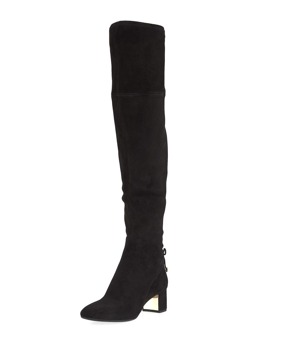 7d283414242 Lyst - Tory Burch Laila 45mm Over-the-knee Boot in Black