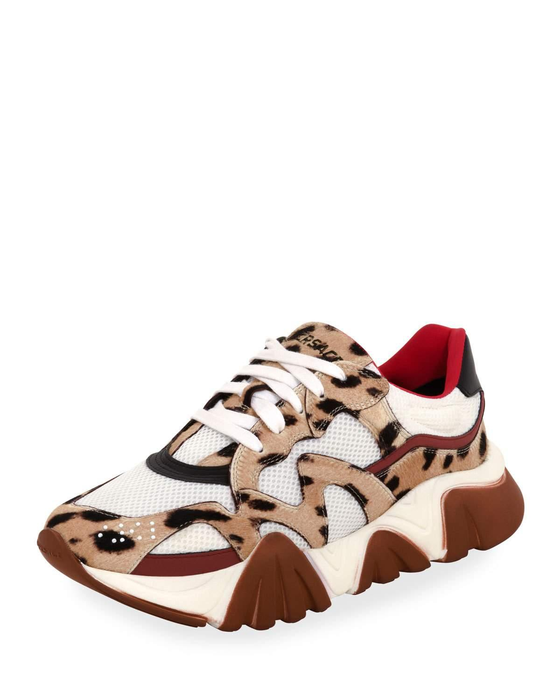 versace leopard sneakers