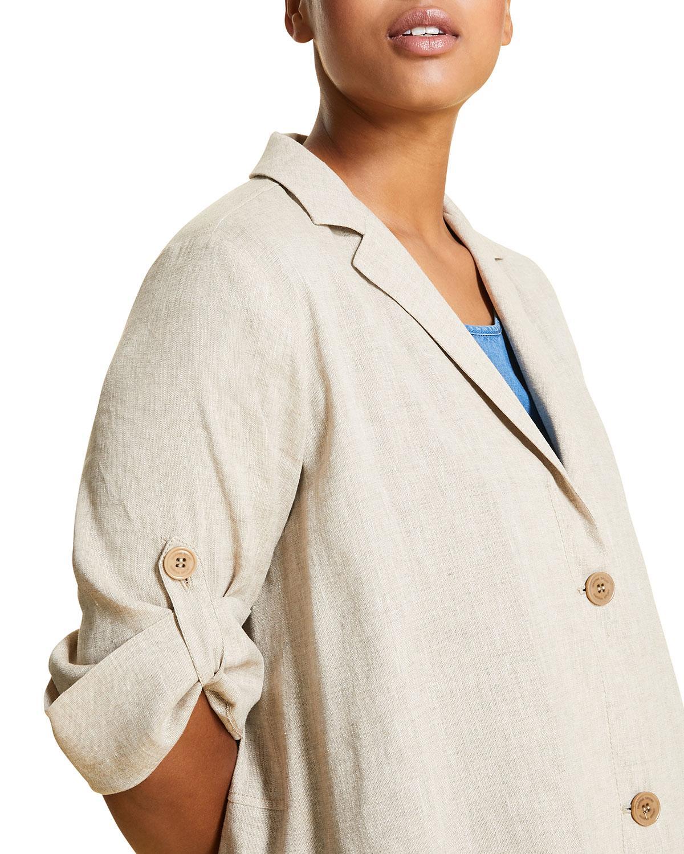 Marina Rinaldi Womens Bari Sheer Peplum Blouse