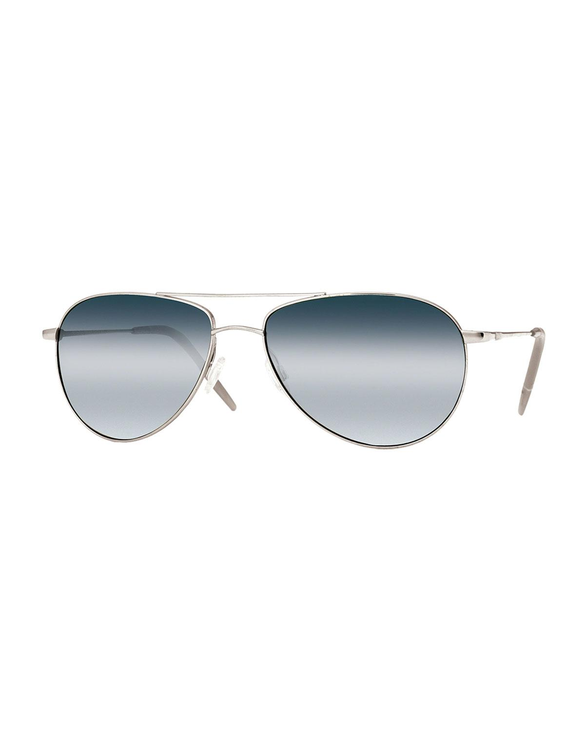fc7b1c407ff Lyst - Oliver Peoples Benedict 59 Aviator Sunglasses for Men