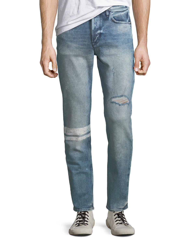 6957bbfbda8 Lyst - Hudson Jeans Men's Sartor Distressed Skinny Jeans in Blue for ...