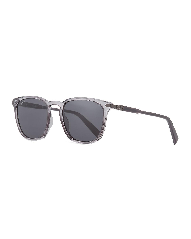95d6ec95029 Lyst - Ferragamo Men s Thin Square Plastic Sunglasses in Gray for Men