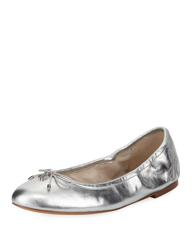 3c097561e Lyst - Sam Edelman Felicia Classic Metallic Ballet Flat in Metallic
