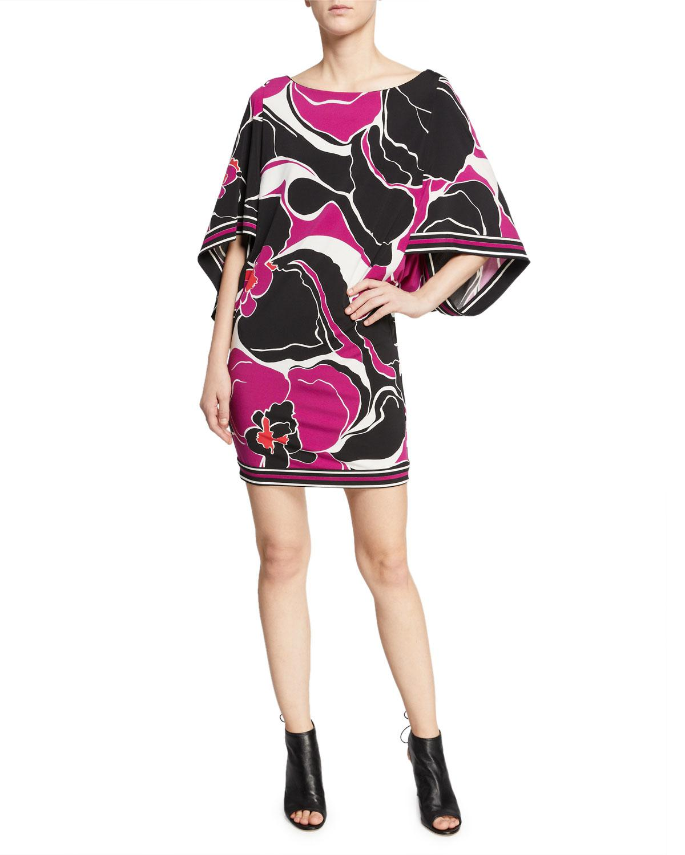 Trina Turk Womens Casablanca Kimono Sleeved Dress