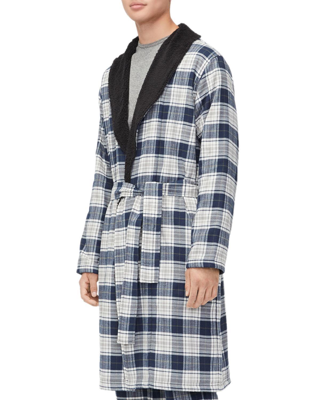 b784b8d982 Lyst ugg kalib plaid robe in gray for men save jpg 1200x1500 Men ugg robe