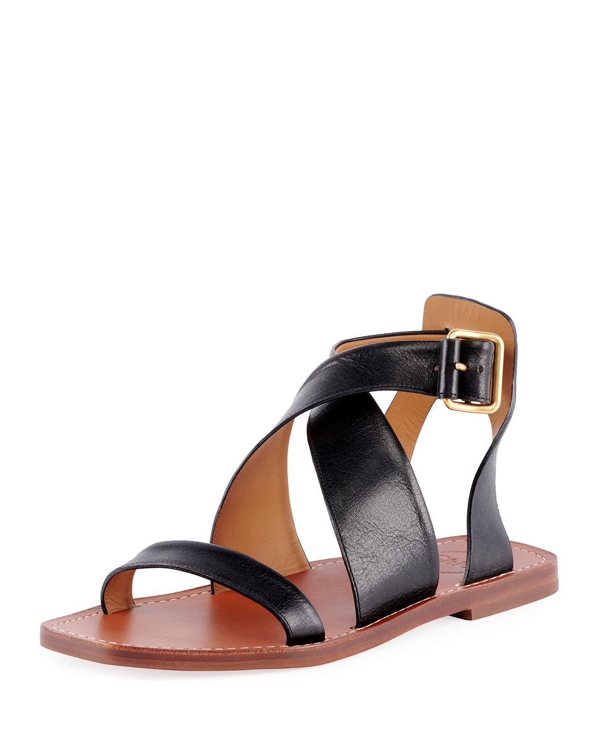 Virginia Leather Ankle Strap Sandals