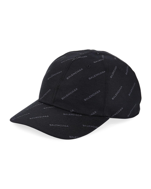 9a43dd250cc Balenciaga Logo Baseball Cap in Black for Men - Lyst