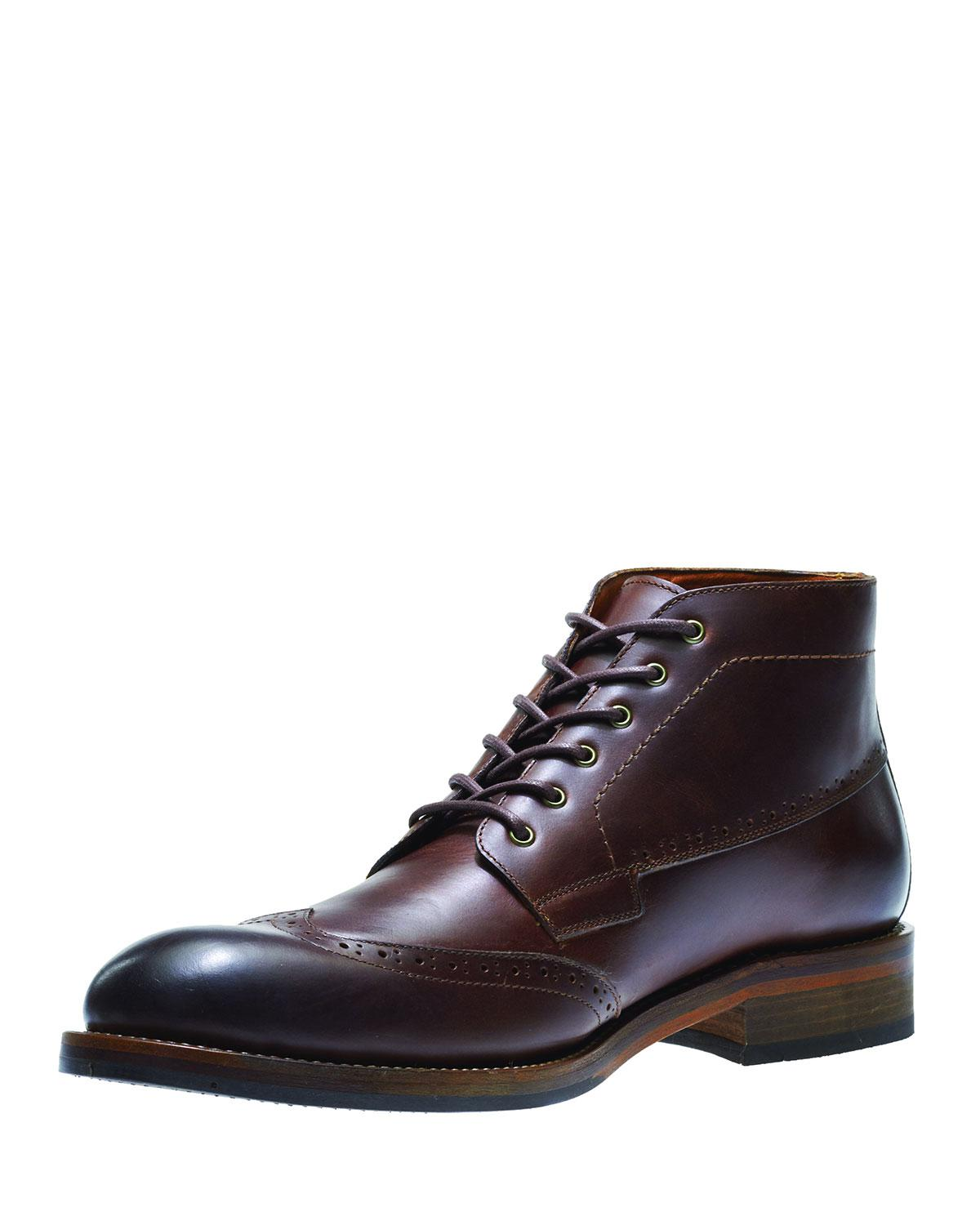 db4c2153597 Men's Brown Harwell Leather Wing-tip Boot