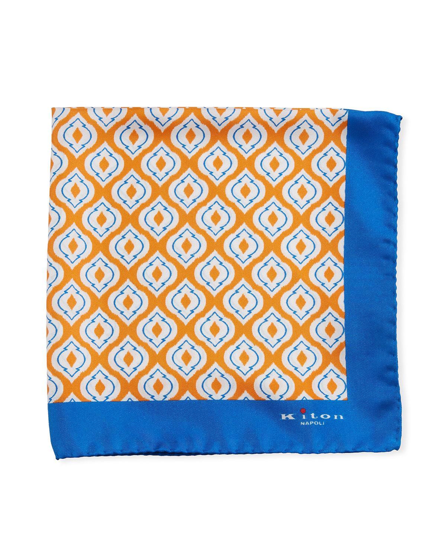 5cf2f069dd85 Lyst - Kiton Fancy Ovals Silk Tie Orange in Orange for Men