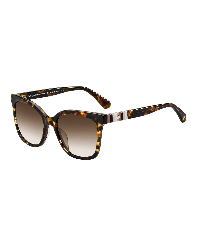 e4815db44575 Kate Spade Kiyas Acetate Rectangle Sunglasses - Lyst