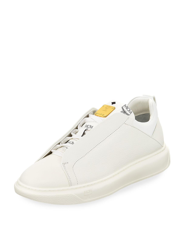 Grain Leather Low-top Sneakers