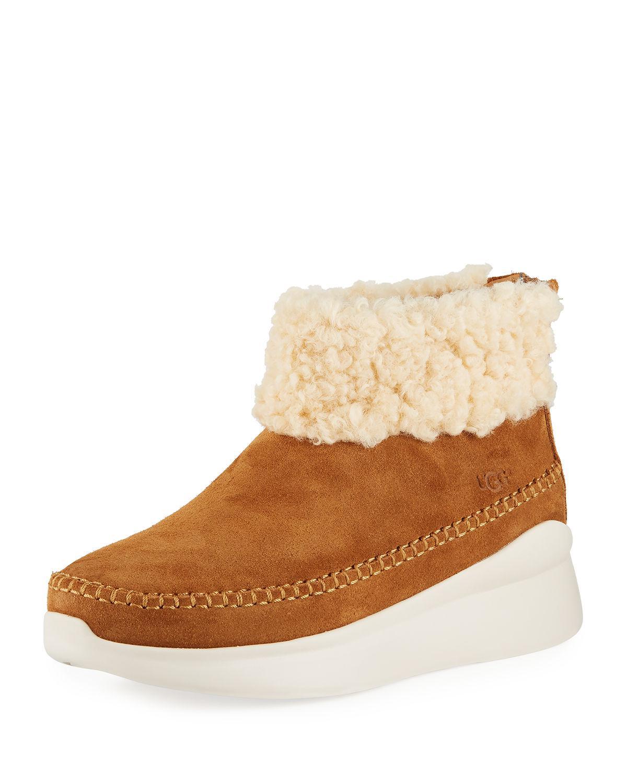 4f5e3ac4359 Ugg Brown Montrose Short Zip Wedge Boot Sneakers