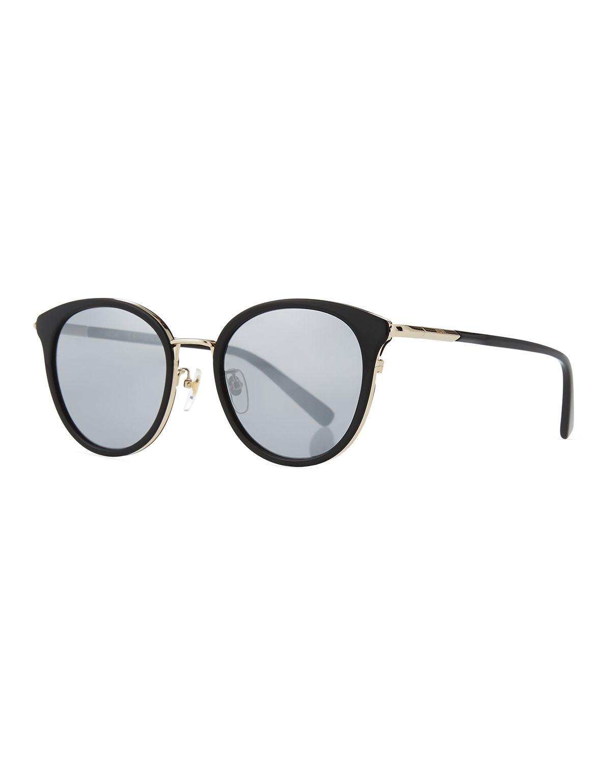e6cead53abc2 MCM. Women s Black Metal   Acetate Cat-eye Sunglasses.  305 From Neiman  Marcus ...
