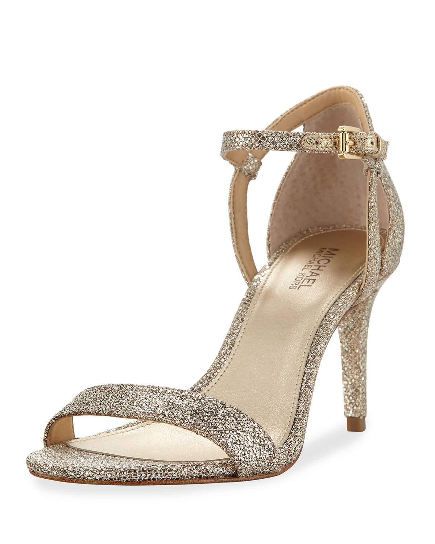 43919c65bd5a MICHAEL Michael Kors. Women s Natural Simone Fabric Strappy Sandals Gray